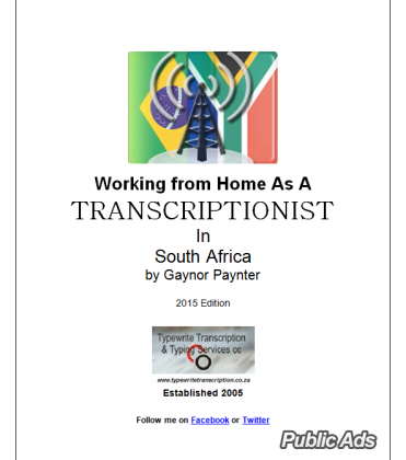 E-Book Working From Home as a Transcriptionist in Sout Africa