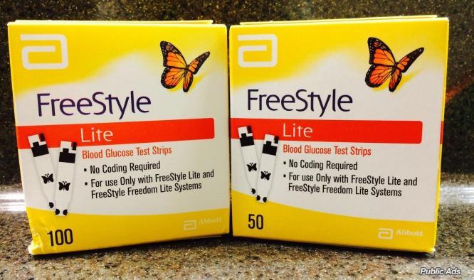 Freestyle lite glucose test strips 50ct,100ct