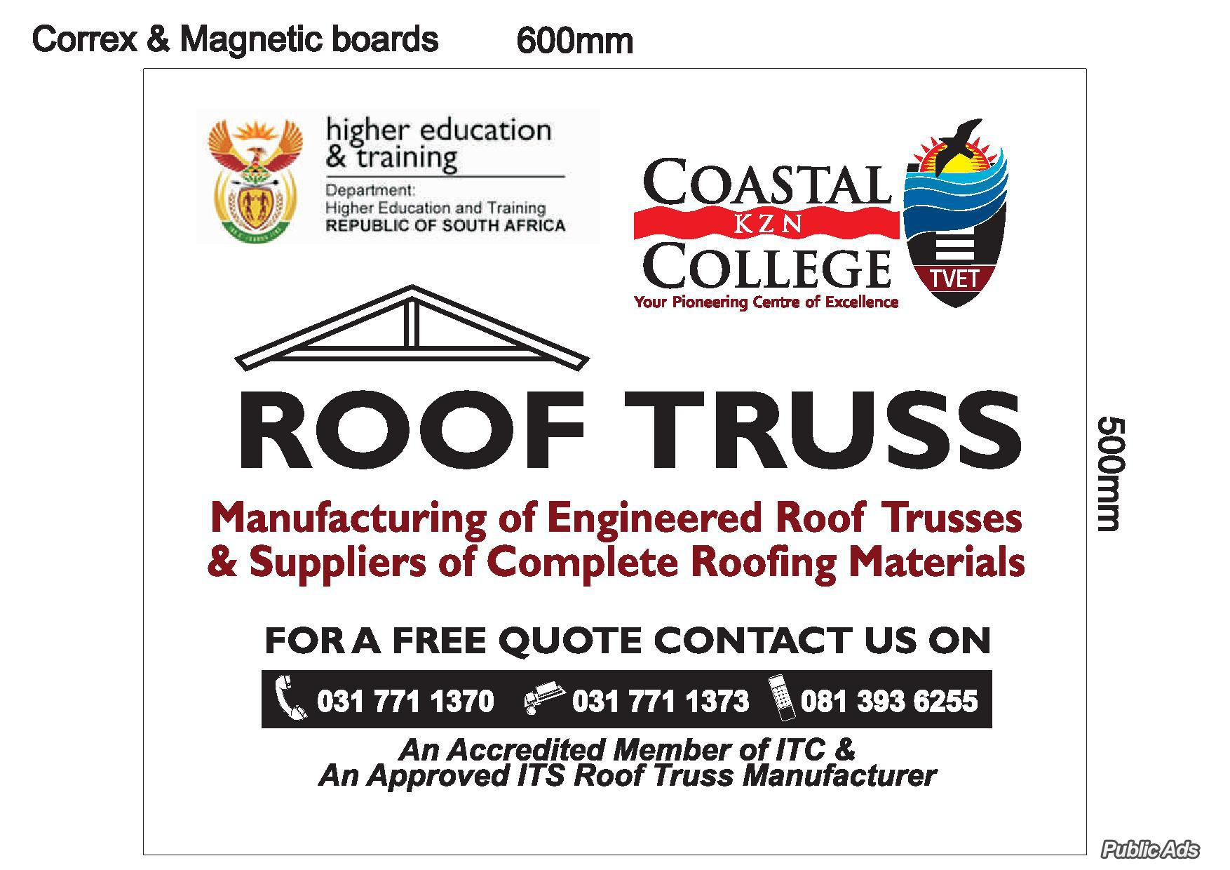 Coastal College Roof Truss Manufacturing Plant | Drummond | Public