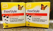 Freestyle lite glucose test strips 50ct,100ct