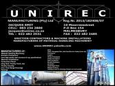Unirec Manufacturing (Pty) Ltd Sheep Cattle Feedlots Silos