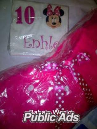 Adorable Handmade Tutu Skirt with personalised onesie/ t-shirt
