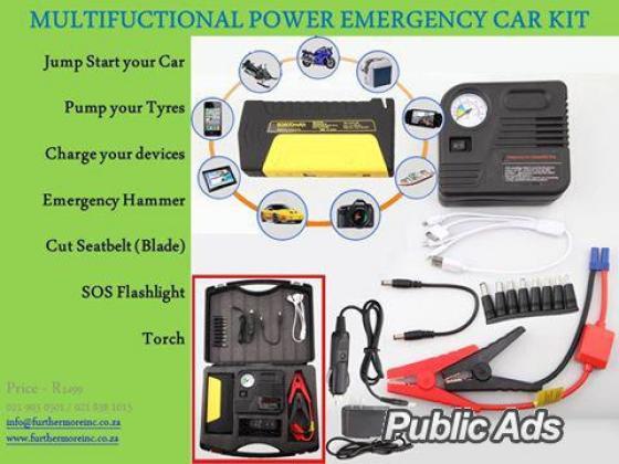 MULTI-FUNCTIONAL POWER EMERGENCY CAR KIT - R1499 in Kuils River, Western Cape