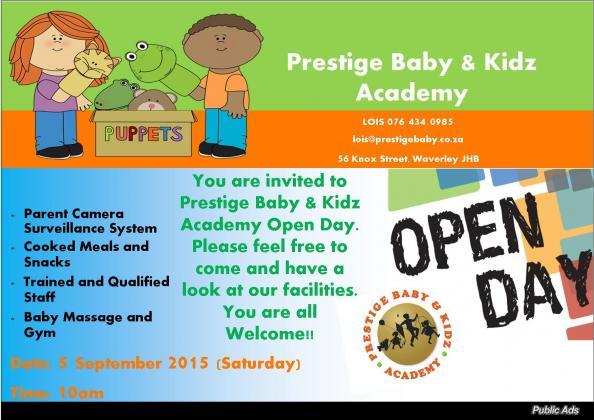Prestige Baby Waverley, Melrose Arch Open Day