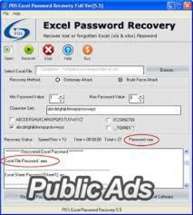 Recover Lost Excel Password