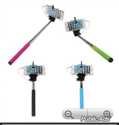 Selfie Stick with Button on the Handle