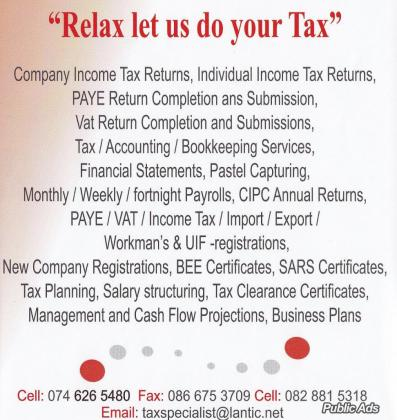 TAX SPECIALIST REGISTERED ACCOUNTANTS