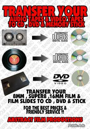 Transfer your Audio & Video to Cd,Dvd & Usb Stick