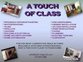 Painting and Renovations A Touch of Class is all you need!!
