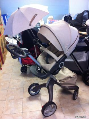 3 IN 1 stokke xplory V4 stroller with carrycot and car seat