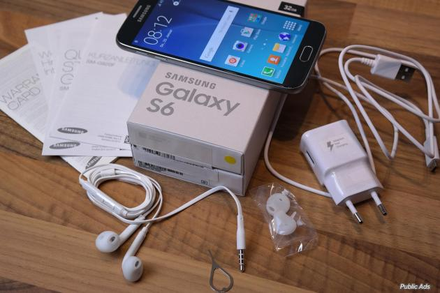 Samsung Galaxy s6 32GB smartphone plus wireless charger