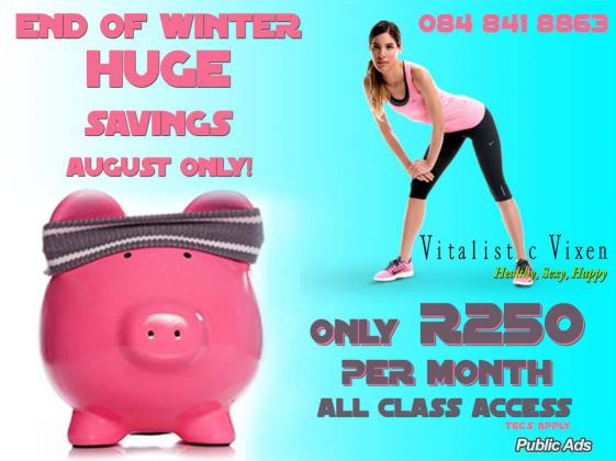 Vitalistic Vixen Fitness class Special