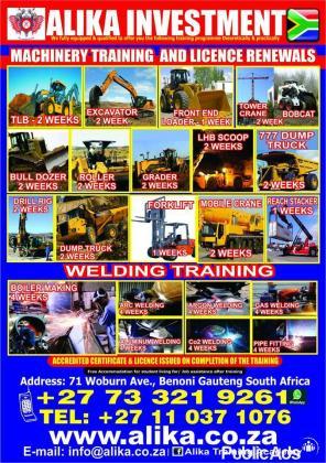 Boiler making, Alluminum, Argon training courses