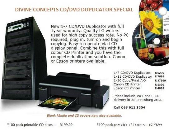 New CD/DVD Duplicator Units
