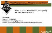 Handyman, Maintenance, Renovations and Designing