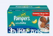 Pampers Active Baby Megapack Size 3 Midi 4-9kg x150