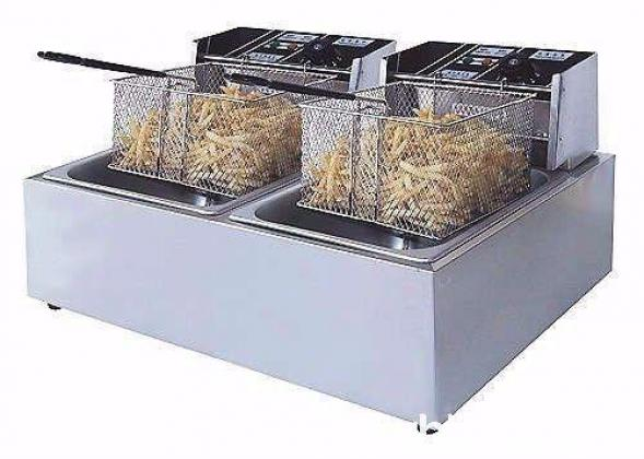 Brand New Two Tank Two Basket Electric Chips Fryer 10L (2 x 5L each)