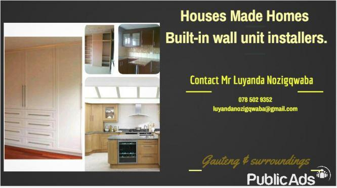 Built in wall unit fitting and installation