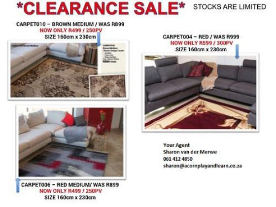 Carpet clearance sale