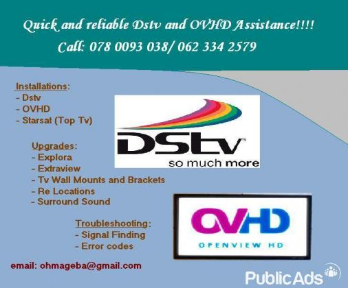 Dstv and OVHD assistance