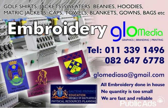 EMBROIDERY, SCREEN PRINTING, T-SHIRT PRINTING AND MORE