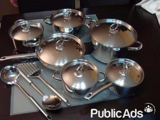 Pieces Stainless Steel, Heavy Bottom Cookware Set With Stainless Lid