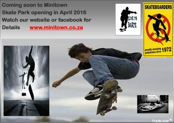 SKATEBOARDING OPENING SOON AT MINITOWN MELKBOS