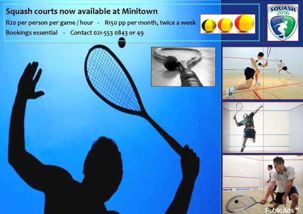 SQUASH  NOW AVAILABLE AT MINI TOWN CAPE TOWN