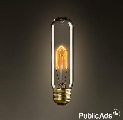 Vintage edison incandescent light bulbs and chandeliers for sale