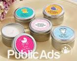 Personalized printed candles