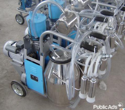 Portable Vacuum Pump Milking Machine Cows - Double Tank