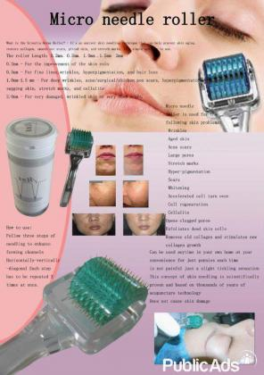 Beautiful skin agents required! Micro needle roller