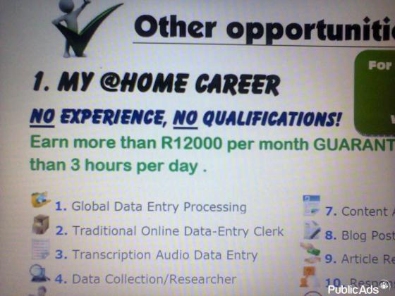 My Career at Home / Get your Job today