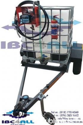 Mobile Diesel Pump, Stoor  & Transport Unit / Bakkie Bowser: 1000l Litre Plastic Tank in Steel Frame