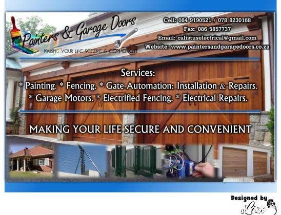 Painters and Garage Doors repairs 247