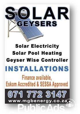 Solar Geysers Installations Centurion Public Ads Services