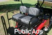 Golf Cart With Rear Flip Seat