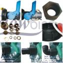 ADAPTERS & Spares for 1000l Litre Flow Bin Tanks / Plastic Water, Diesel,Oil Drum/Container in Steel