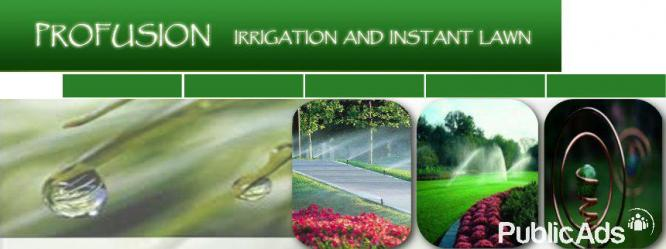 Irrigation and lawn