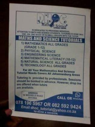 Math and Science tutor available
