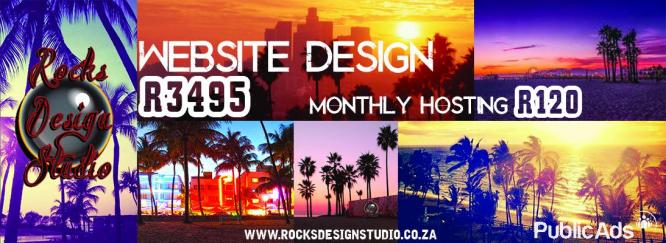 Quality website design only R3495 by Rock's Design Studio