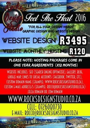 Quality website design only R3495 by Rock's Design Studio