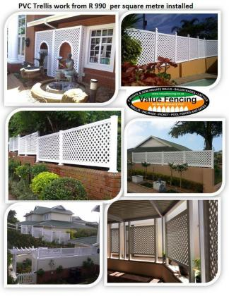 Value Fencing balustrade Lattice Trellis Horizontally slatted screening