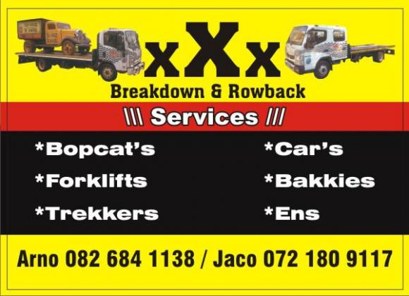 XXX Towing of vehicles
