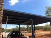 Steel structure staal store en afdakke staal strukture