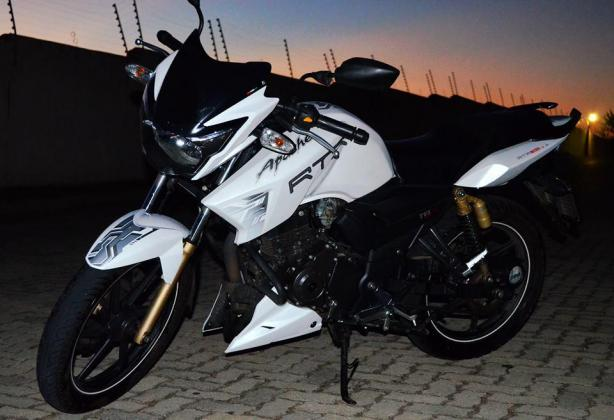 2013 TVS Apache RTR 180 with a mileage of 5000km