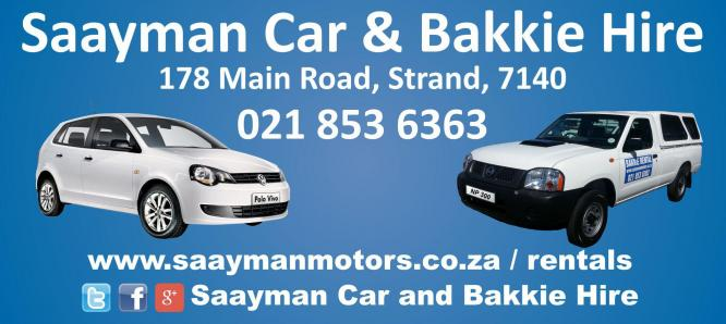 Car, Bakkie, Kombi, 4x4 and trailer hire