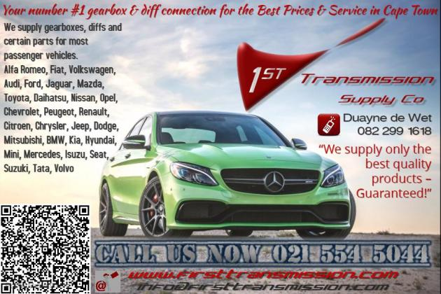Car gearbox, diff parts repairs supply sales in Bloubergstrand, Western Cape