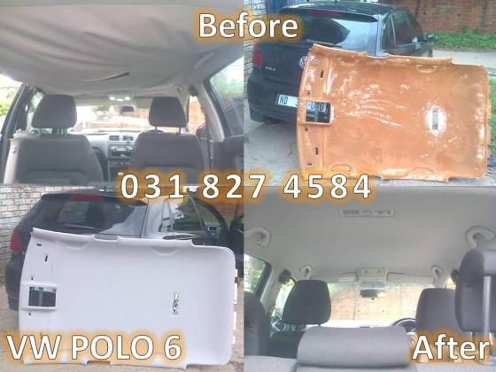 car hood lining recovering done like NEW