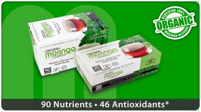 Organic Moringa Oleifera Rooibos Tea - 40bags